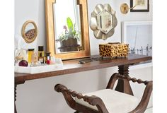 Seville Trestle Console Table, Umber