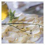 # batata à italiana- carpaccio de batata perfumado com azeite