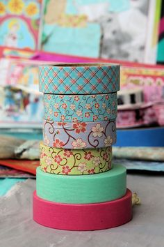 *itKuPiLLi* ~ їn the city of αᾔGєLs: 和紙 washi tape Washi Tape Storage, Washi Tape Crafts, Duck Tape Crafts, Paper Crafts, Mt Tape, Masking Tape, Tapas, Wash Tape, Scotch