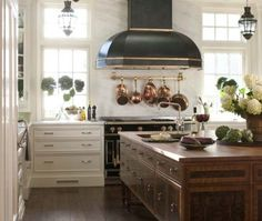 blue range with copper knobs - Google Search