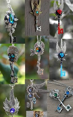wwhatevver-ampora: steampunk-street: KEYPERS COVE need all of. (With images) Key Jewelry, Cute Jewelry, Jewelery, Jewelry Accessories, Magical Jewelry, Keys Art, Key To My Heart, Key Necklace, Necklaces