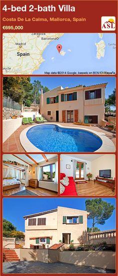 4-bed 2-bath Villa in Costa De La Calma, Mallorca, Spain ►€695,000 #PropertyForSaleInSpain
