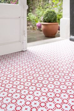 Rose Des Vents - Vinyl Floor Tiles. Love this for an entryway, laundry, or bathroom!