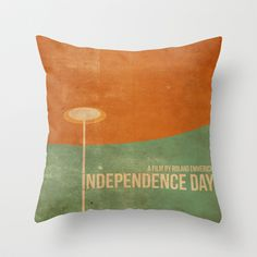 Independence Day inspired movie poster Throw Pillow by Dan Howard - geek things or home decor