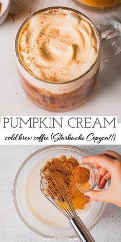 Starbucks Recipes, Starbucks Pumpkin, Coffee Drink Recipes, How To Order Starbucks, Cold Brew Coffee Recipe Starbucks, Sweet Iced Coffee Recipe, Pumpkin Coffee Recipe, Coffee Drinks, Homemade Iced Coffee