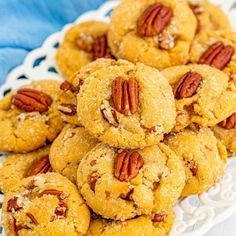 These Butter Pecan Cookies are perfect for any time of the year with their buttery, nutty, soft, and chewy goodness. The flavor is bursting with butter and pecan; with a brown sugar-based cookie, you just can't go wrong with these cookies! They would be well-loved on a holiday platter of cookies for sure. Everyone loves butter pecan cookies, so you know they will be a hit! To make this butter pecan cookie recipe, the ingredients are easy to find except maybe butter extract; this item is optional