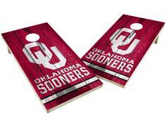 Oklahoma Sooners Cornhole Board Set - Vintage http://prolinetailgating.com/