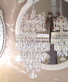 Crystal and Roses Wedding Cake Chandelier
