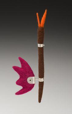 Serendipity Brooch - sold felt brooch by Sarah Fox
