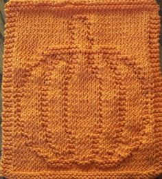 Kathleen's Creations: Free Pumpkin Dishcloth Pattern!