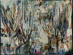 Park - Hand Woven Tapestry by Piotr Grabowski