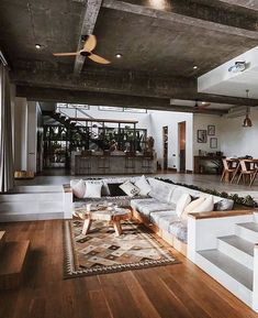 Cosy House, Up House, Sunken Living Room, Home Living Room, Loft Interior, Home Interior Design, Dream Home Design, Modern House Design, Loft Design