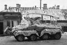 A SdKfz 263 8 rad Panzerfunkwagen armored car