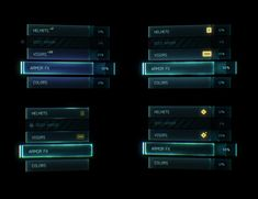Mockups for the Halo 5: Guardians Beta Menus. Final game went in a different…