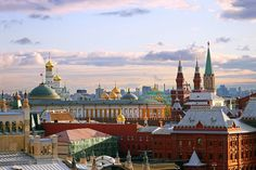 Historical Center from a bird view, Moscow, Russia
