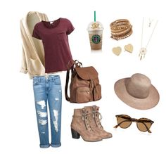 """""""Fall clothes"""" by ashmarieb2712 on Polyvore featuring maurices, Frame Denim, Object Collectors Item, H&M, Chan Luu, Aéropostale, Kate Spade and Ray-Ban"""