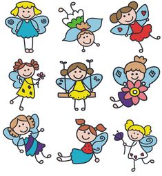 Free embroidery designs  little girl fairies
