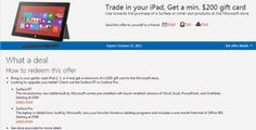 Microsoft Offers $200 Gift Card On iPad Trade-In -  [Click on Image Or Source on Top to See Full News]