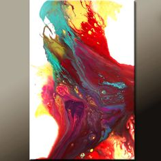 Abstract Modern Art Painting 36x24 Original Modern Contemporary Art on Canvas by Destiny Womack - dWo - Chasing a Dream