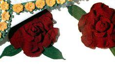 Camellia Motif crochet pattern from Pillow Cases Decorative Crochet, Clark's O.N.T. J Coats, Book No. 264, in 1950.