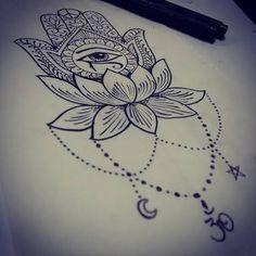 Resultado de imagem para hamsa draw tattoo
