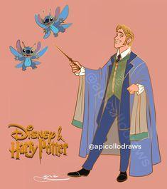 העברה לפינטרסט • Instagram Disney Movie Characters, Disney Crossovers, Disney Movies, Disney Hogwarts, Harry Potter Disney, Pixies, Beauty And The Beast, Stitch, Animation