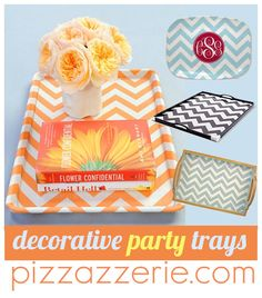 DIY fabric decoupage trays from Pizzazzerie featured on Today's Creative Blog