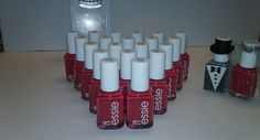 ESSIE BULK Wholesale 20 Nail Polish PINKISH RED  baby bridal shower party favor