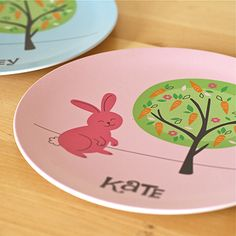 A perfect gift from the Easter Bunny! Bunny Names, Plates And Bowls, Kitchen Stuff, Easter Bunny, Ava, Kid Stuff, My Design, Kids Room, Rabbit