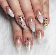 beauty | nails | mani | manicure | autumn | stiletto | uñas | polish | nail | glitter | fashion | fall | black | matte | ombre | black | glitter | marble | glass | nude |