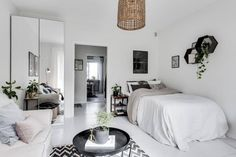 Scandinavian Decor On A Budget Luxury 55 Awesome Studio Apartment with Scandinavian Style Ideas A Bud Page 2 Of 58 Cozy Studio Apartment, One Room Apartment, Studio Apartment Decorating, Apartment Interior, Apartment Design, Apartment Living, Studio Living, Studio Room, Living Room
