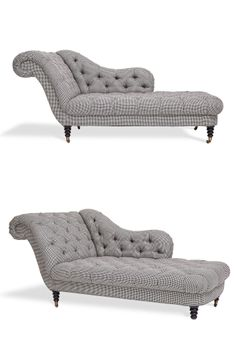 Houndstooth tufted chaise