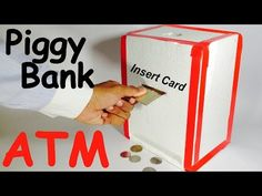 How to Make Piggy Bank ATM Machine at Home | DIY Craft for Kids - YouTube