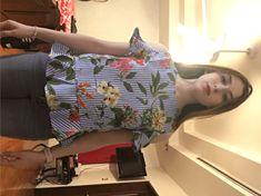 Blusa con estampado mixto y aberturas en los hombros | SHEIN España Botanical Prints, Printed Blouse, No Frills, Baby Car Seats, Children, Shopping, Blouses, Young Children, Boys