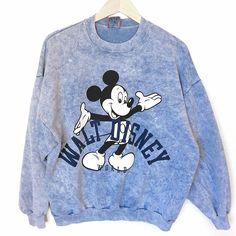 Vintage 90s Walt Disney World Mickey Mouse Acid Wash Ugly Sweatshirt