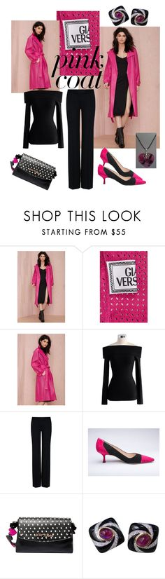 """""""Hey, Girl: Pretty Pink Coats"""" by miriam-witte ❤ liked on Polyvore featuring Chicwish, STELLA McCARTNEY, Manolo Blahnik and Betsey Johnson"""