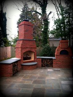 BDL Custom Built   Outdoor Fire Place and Pizza Oven