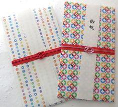 カラフルのし袋セット 2枚組  ご祝儀袋・袱紗(ふくさ) QK ハンドメイド通販・販売のCreema