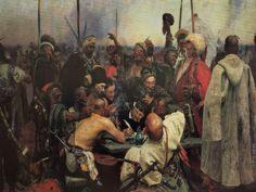 "Il'ya Repin ""Zaporizhian Cossacks Writing A Letter To The Turkish Sultan"""