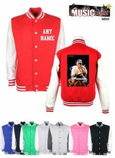 Kool Art eminem personalised Varsity Letterman College Baseball Jacket