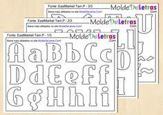 Baixe 2 tamanhos de molde de letras e números fonte East Market para artesanato com patch aplique, EVA ou feltro. Moldes em tamanho natural. Acesse o site!