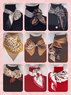 Ways To Tie Scarves, Ways To Wear A Scarf, How To Wear Scarves, Scarf Knots, Diy Scarf, Tying A Scarf, Scarf Ideas, Diy Fashion Hacks, Fashion Tips