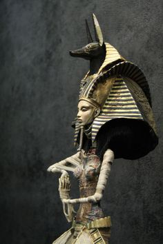 EGYPTIAN GOD  Anubis is the Greek name for a jackal-headed god associated with mummification and the afterlife in ancient Egyptian religion. The Egyptian sense of aethstetic and design was amazing way back then.