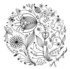 My original art, inspired by many. Doodle, flower, line drawing, tattoo, garden, plants
