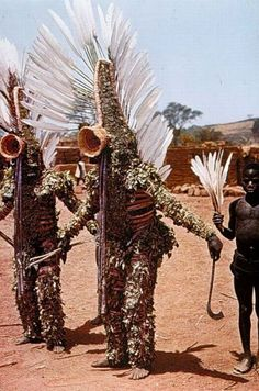 Leaf Costume for purification rites and spirit of Do # (via anthrolology) Arte Tribal, Tribal Art, Costume Ethnique, Costume Africain, Tribal Costume, Folk Costume, Costumes, African Masks, African Art