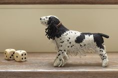 English Springer Spaniel from Best in Show: 25 More Dogs to Knit by Sally Muir and Joanna Osborne, published by Pavilion. Springer Dog, Springer Spaniel, English Springer, Knitting Books, Knitting Projects, Knitted Dolls, Crochet Dolls, Crochet Patterns Amigurumi, Knitting Patterns