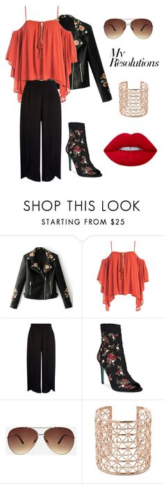 """""""#PolyPresents: New Year's Resolutions"""" by imhelladankbish ❤ liked on Polyvore featuring WithChic, Sans Souci, Betsey Johnson, Ashley Stewart, Co.Ro, contestentry and polyPresents"""