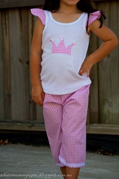 What's Mummy Up To ...: Super-Quick Pyjama Tutorial ... And a sneak peak!