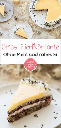 Grandma & Eggnog Cake with Walnut Base Baking makes you Omas Eierlikörtorte mit Nussboden Torte Au Chocolat, Eggnog Pie, Easy Desserts, Dessert Recipes, Dessert Oreo, Baking And Pastry, Food Cakes, Easter Recipes, Pastries