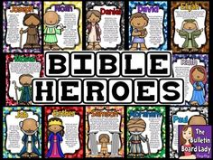 Bible Heroes - Christian Bulletin Board                                                                                                                                                      More